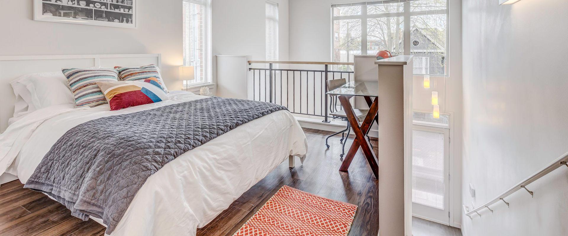 Latitude Queen Anne loft bedroom