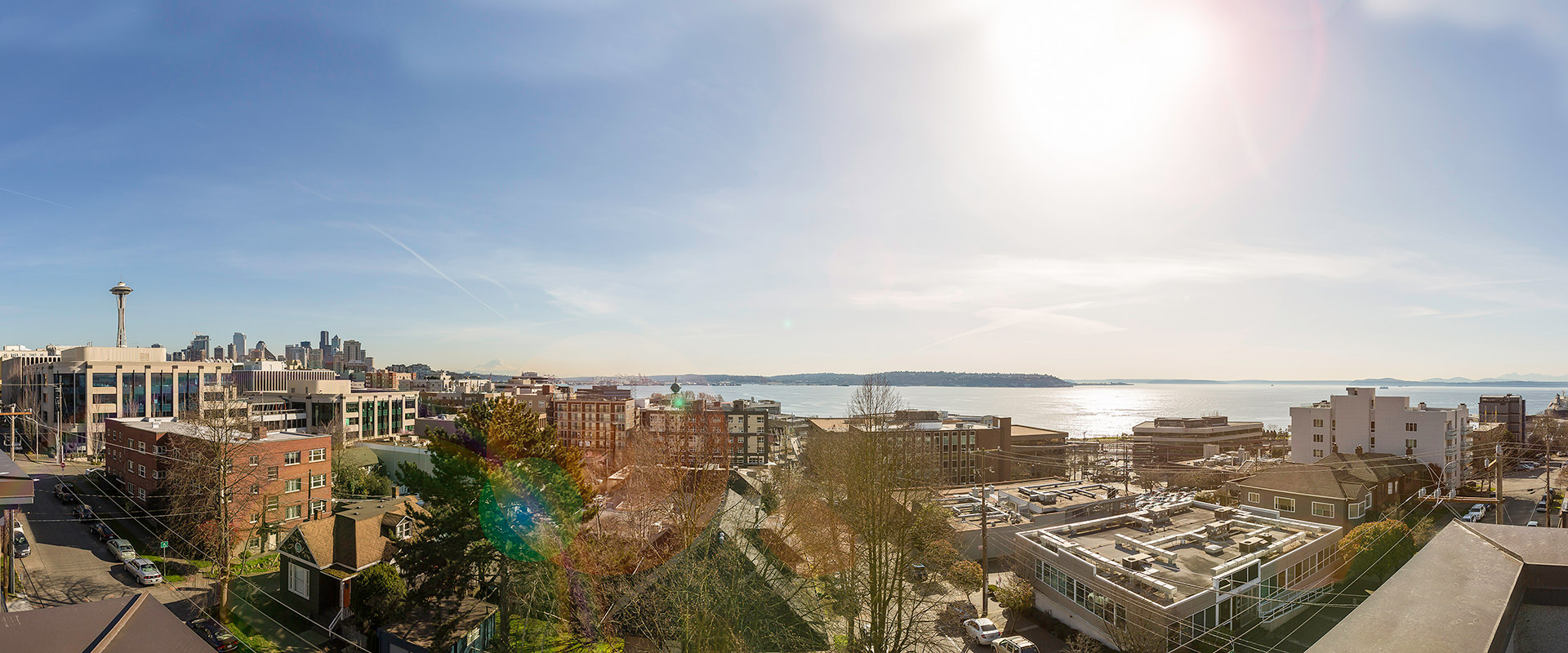 Downtown Seattle and Puget Sound view